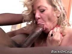 Karen Summer tastes her pussy juices from black  lover`s shaft.