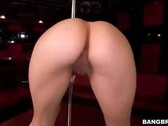 Lovely brunette slutie lets you enjoy the view of her yummy ass.