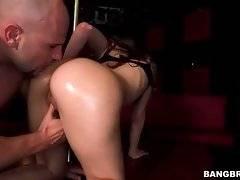 Slutty Miss Rican wraps her lips around Jmac`s massive boner.