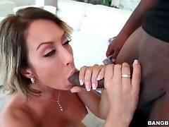 Slutty Capri Cavalli wraps her lips around Rico Strong`s rod.