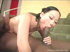 Asian cutie and tough black dude perform awesome sixty-nine.
