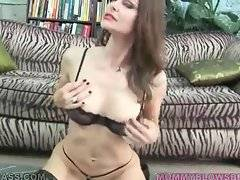 Slutty brunette milf hungrily swallows partner`s boner.
