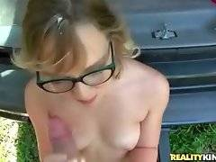 Slutty Chase gets her face spunked after good fucking.