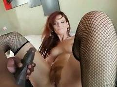 Turned on black man deeply assfucks gorgeous while milf.