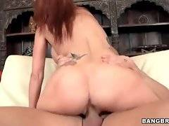 Stunning mature slutie is passionately jumping on friend`s cock.