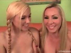 Awesome milf and her daughter demonstrate all their charms.