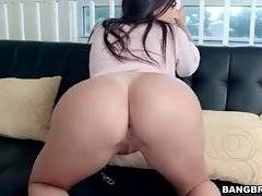 Julianna Vega is a happy owner of delicious round booty.