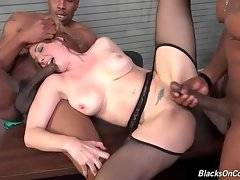 Kiki Daire loves to feel huge black cocks in her mouth and pussy.