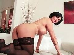 Curvaceous milf loves to have her pussy filled with cock.