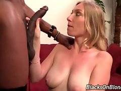 Girl wants to show her black interviewer that she`s good at blowjob.