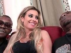 Hot looking blonde Alana Luv is a true black cock slut.
