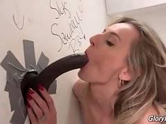 Natasha Starr greatly enjoys the taste of big erect dick.