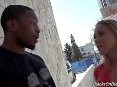 Hollie Mack meets famous black super stud at street.