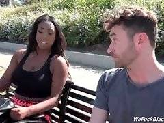 Black cutie Lisa Tiffian meets porno superstar James Deen.