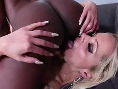 Welcome to the lesbian version of black on blonde, in this 26 minute video from It`s All Pink Inside! If you`re ready for something that tastes a little different, we promise, different is good. Nothing gets as wet as a woman in a lesbian pornstar`s mouth...
