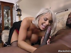 Lex skull fucks Alyssa, stretches her tight cunt to its maximum, then drops a mighty load all over her face!